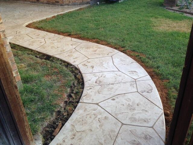 Stamped Concrete Sidewalk The Colony TX